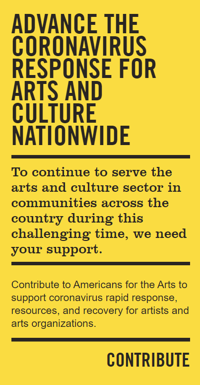 Advance the Coronavirus Response for Arts and Culture Nationwide